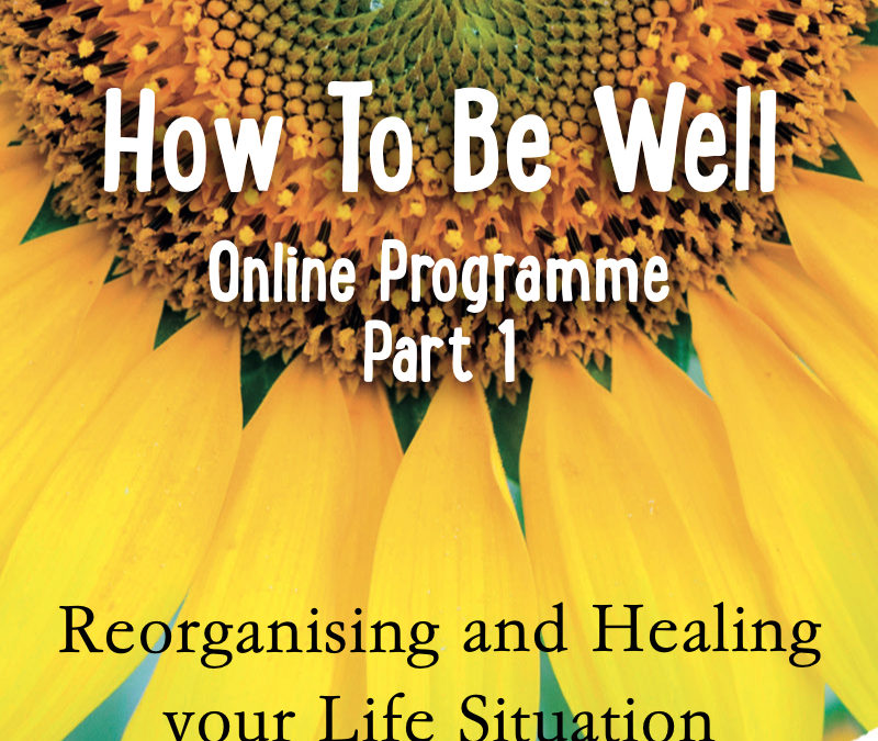 How to Be Well – Part One – Reorganising and Healing your Life Situation