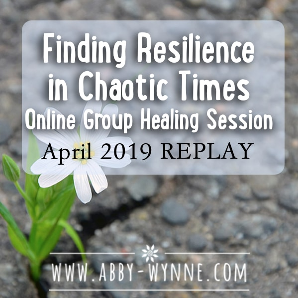 OGHSApril2019 – REPLAY – Finding Resilience in Chaotic Times